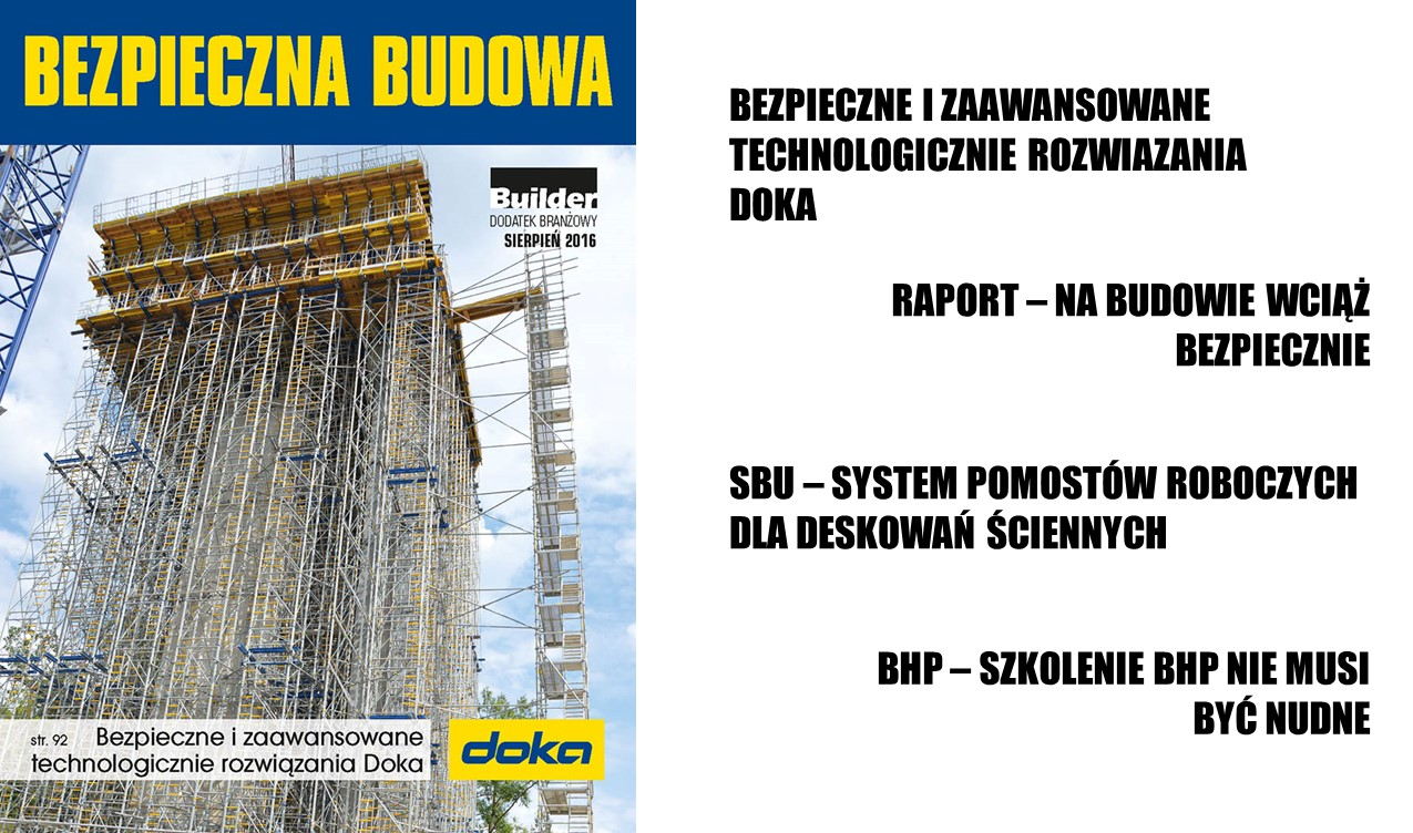 BUILDER – DODATEK BRANŻOWY – SIERPIEŃ 2016