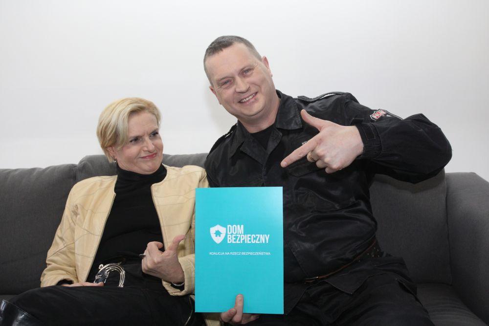 Ambasadorzy programu Jolanta Żółkowska i Kevin Aiston