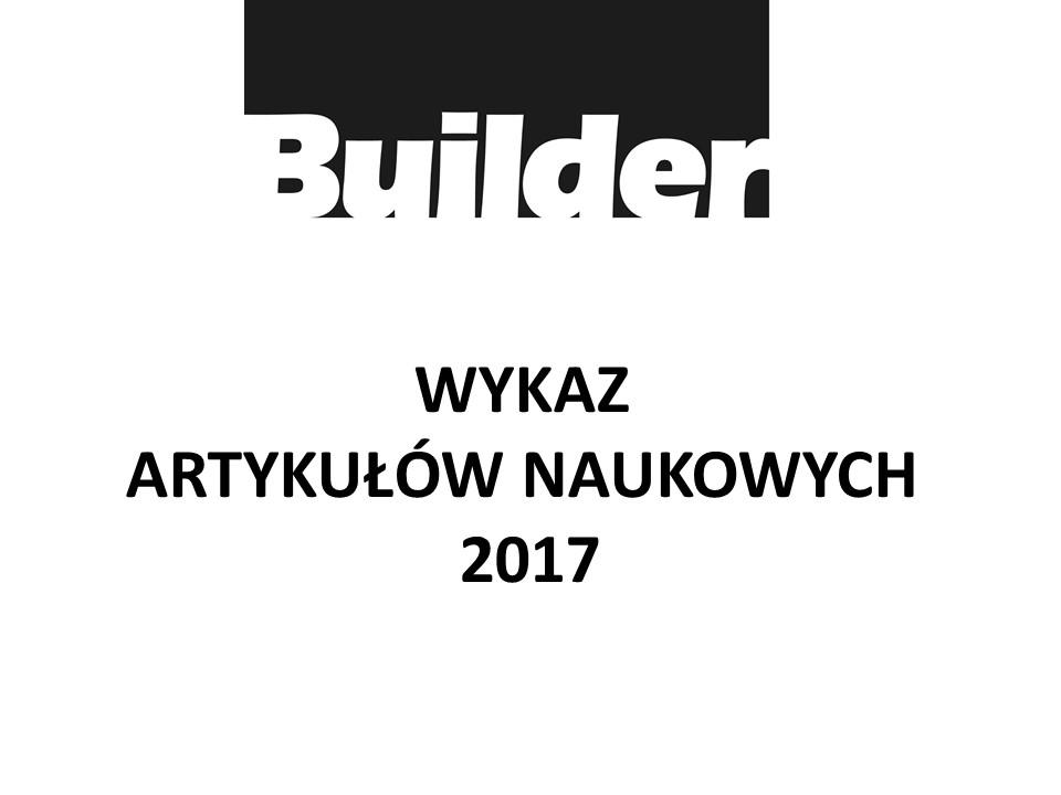 WYKAZ ARTYKUŁÓW NAUKOWYCH 2017
