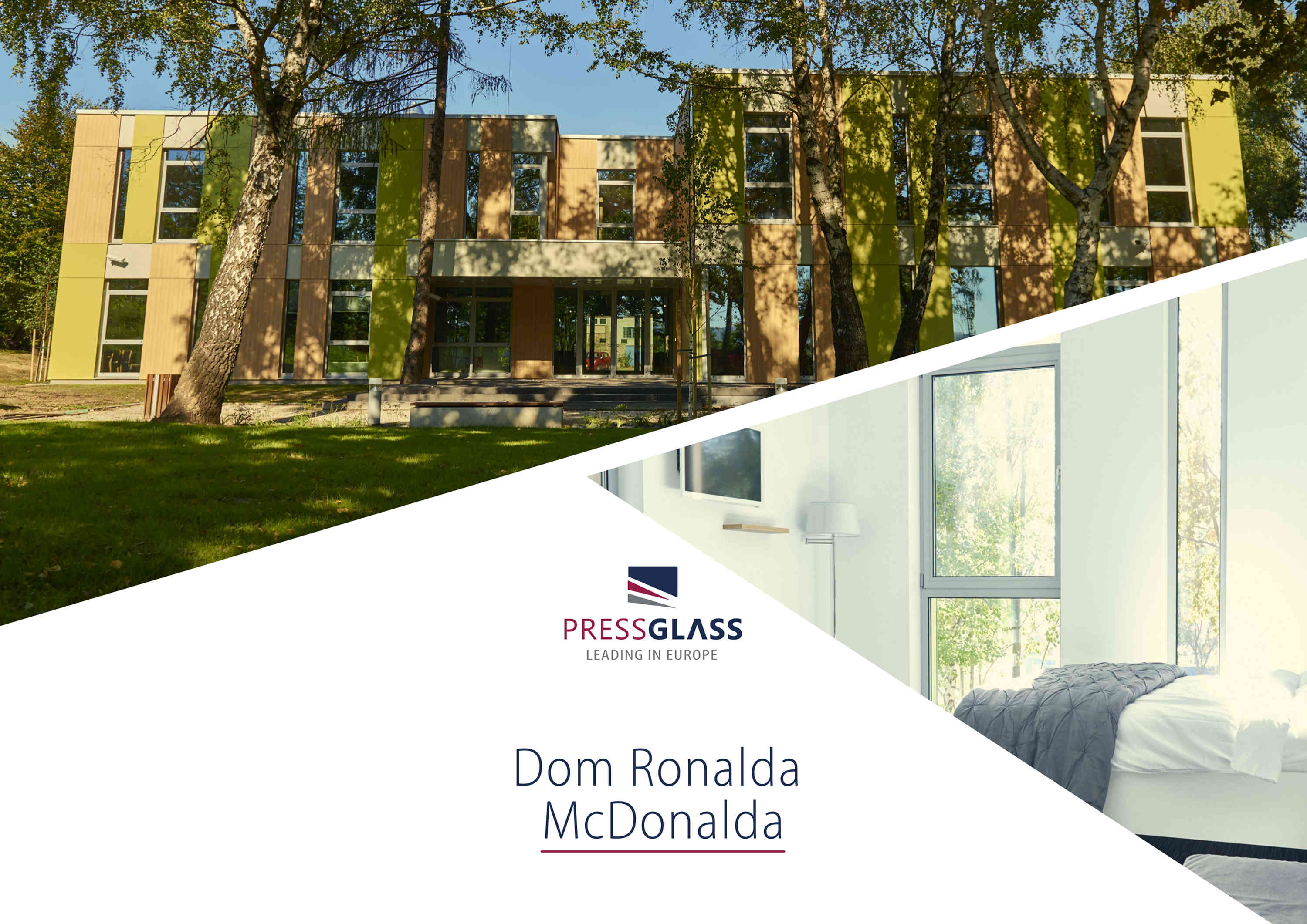 DOM RONALDA MCDONALDA Z SZYBAMI PRESS GLASS