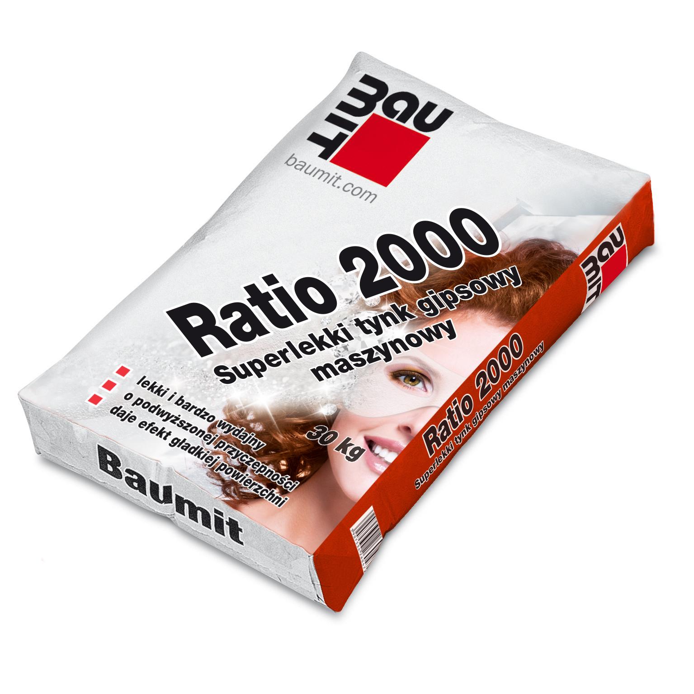 BAUMIT RATIO 2000 – SUPERLEKKI TYNK GIPSOWY