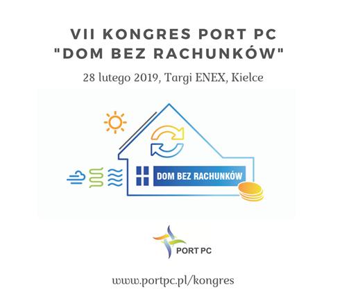 """VII KONGRES PORT PC """"DOM BEZ RACHUNKÓW'"""
